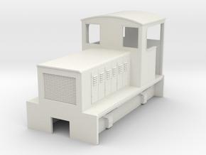 HOn30 endcab body for Kato 11-103 (OC) in White Natural Versatile Plastic