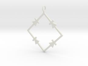 Bridge Rectifier A in White Natural Versatile Plastic
