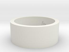 Ring_21mmx10mm in White Natural Versatile Plastic