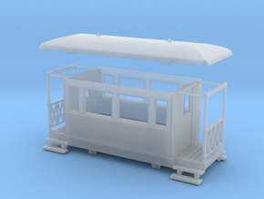 OO9 4w Tramway coach in Smooth Fine Detail Plastic