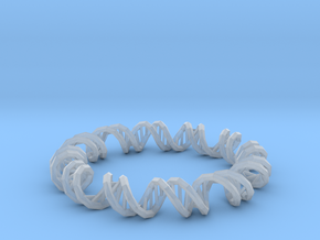 Dna Bracelet in Smooth Fine Detail Plastic