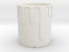 Cup in White Natural Versatile Plastic