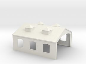 Engine Shed in White Natural Versatile Plastic