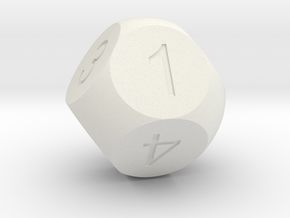 D8 Sphere Dice in White Natural Versatile Plastic