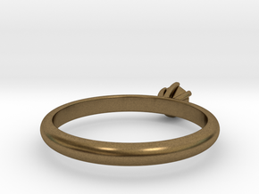 Diamond ring in Natural Bronze