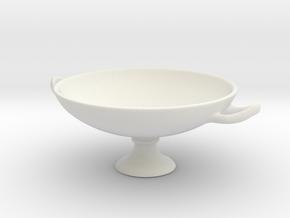 Greek Vase - Kylix A  in White Natural Versatile Plastic
