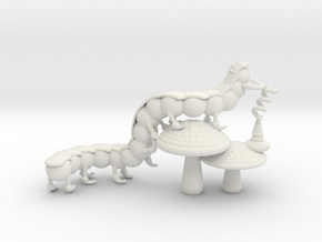 Alice's Caterpillar in White Natural Versatile Plastic