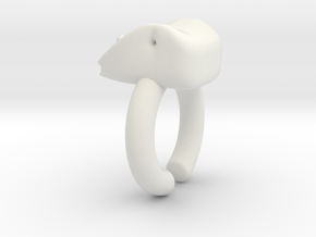 Moli Ring in White Natural Versatile Plastic