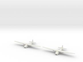 Me-321-German Glider X2 in White Natural Versatile Plastic