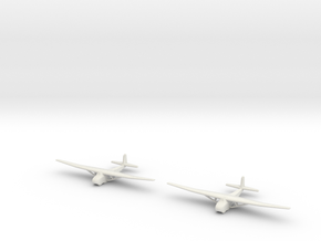 Me-321 German Glider 1/600 X2 in White Natural Versatile Plastic