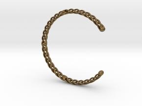 Spiral Bracelet Cuff Medium in Natural Bronze