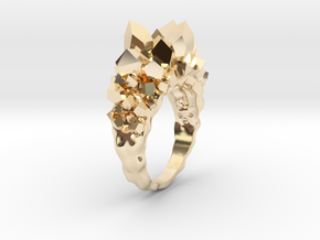 Crystal Ring Size 8 in 14K Yellow Gold