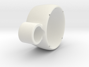 Kort Nozzle v2 in White Natural Versatile Plastic