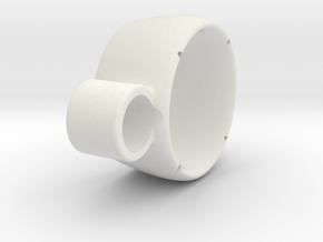 Kort Nozzle v2 in White Natural Versatile Plastic