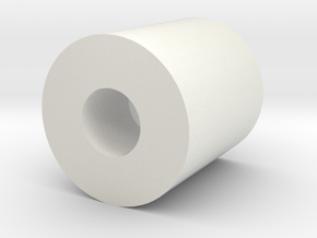 servo shaft adapter in White Natural Versatile Plastic
