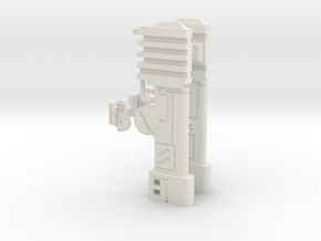 Twin Rail Cannons in White Natural Versatile Plastic