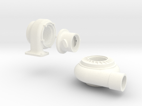 3 piece turbo 1/8 th scale in White Strong & Flexible Polished
