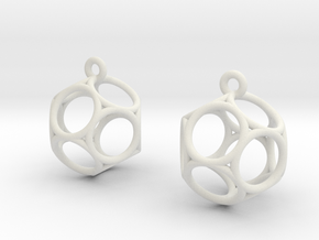 Dod Earrings - Thin in White Strong & Flexible