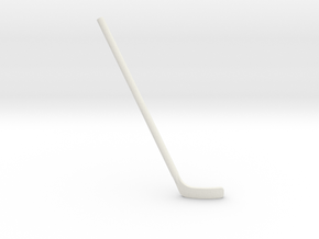 Hockey Stick: Bent (Right-handed) in White Strong & Flexible