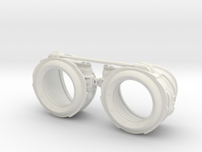 Steampunk Goggles in White Strong & Flexible