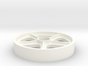 45 RPM Adaptor - Skyway BMX Mag Wheel in White Processed Versatile Plastic