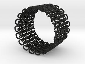 Stitch Bracelet - Large in Black Strong & Flexible