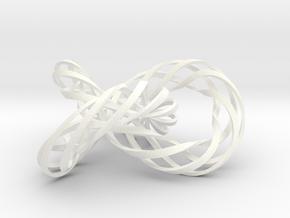 Trefoil4 in White Processed Versatile Plastic