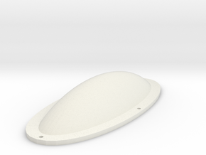 Oval Gem model. in White Natural Versatile Plastic
