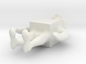 cube man in White Natural Versatile Plastic