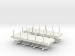 HOn30 20ft flat with stakes x2 in White Strong & Flexible