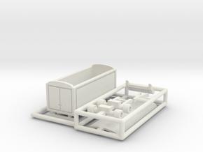 Packwagen 6,5 m - 1:220 (z scale) in White Strong & Flexible