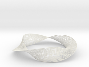 Mobius band 3 in White Natural Versatile Plastic