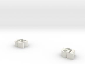 numbers in White Natural Versatile Plastic