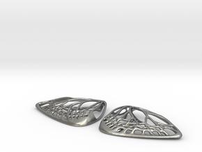 Metal Butterfly Earrings (L) in Natural Silver
