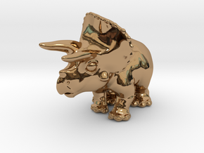 Triceratops Chubbie Krentz in Polished Brass