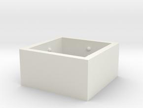 SquareRing_Love_Int_18mmx12mm in White Natural Versatile Plastic