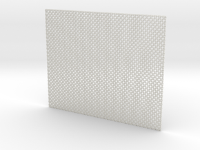 Squaremaille - Flat N place mat in White Natural Versatile Plastic