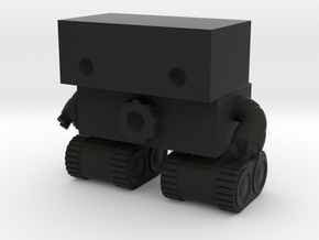 Robot 0025 Tank Tread Bot With Cog And Hands in Black Strong & Flexible
