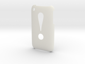 'Exclamation' 3GS Cover in White Natural Versatile Plastic