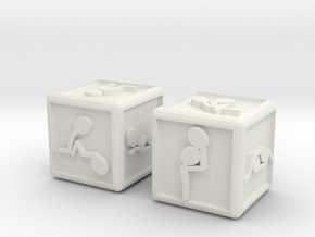 sensual dice in White Natural Versatile Plastic
