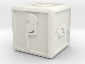med dice in White Natural Versatile Plastic