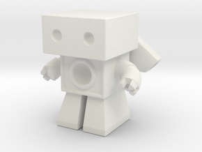 Robot 0025 Jet Bot Sonic Boom Bot in White Natural Versatile Plastic