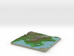 Terrafab generated model Sun Nov 17 2013 23:29:20  in Full Color Sandstone