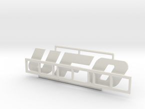 """Logo """"UFO"""" für 1:87 (H0 scale) in White Natural Versatile Plastic"""