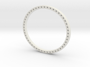 Wire weave bangle in White Natural Versatile Plastic