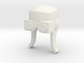 Aviator Helmet for ModiBot in White Natural Versatile Plastic