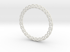 Braiding bracelet in White Natural Versatile Plastic
