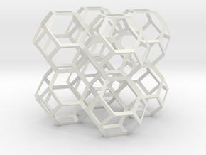 Kelvin foam skeleton in White Natural Versatile Plastic