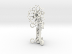Spring Flower in White Natural Versatile Plastic