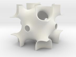 OCTO periodic minimal surface in White Natural Versatile Plastic